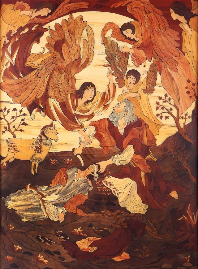 داستان مسخره و چندش آور ابراهیم آدم کش که می خواهد سر فرزند خود را ببرد و ناگاه گوسفندی فرا می رسد و او را قربانی می کند. افسانه ای که مرغ مرده هم اگر بشنود بلند می شود و قاه قاه به ریش گوینده آن می خندد.