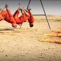 داعش چهار شیعه عراقی را زنجیر بسته و آویزان زنده زنده در آتش سوزاند
