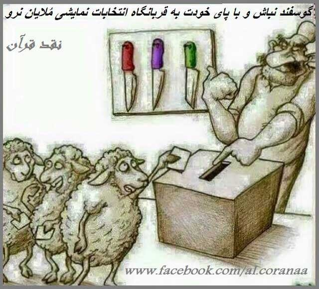 sheep-vote-at-elections-in-iran