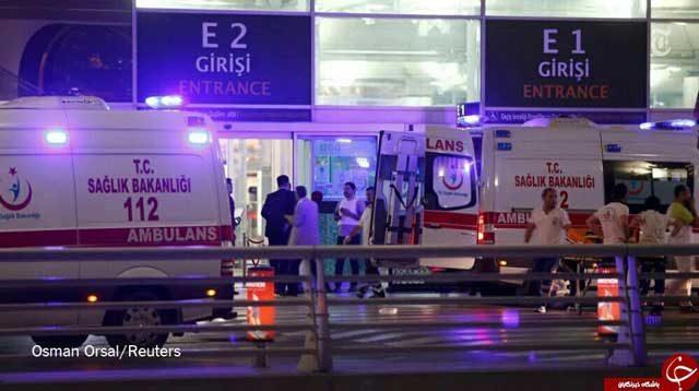 صحنه ای از امداد رسان قربانی های بمبگذاری فرودگاه استانبول