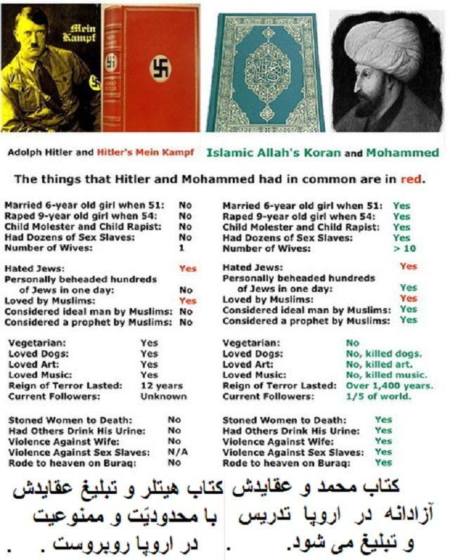 مسلملنان بیچاره البته خود هم نمی دانند که چه باید بکنند! از طرفی دوران زندگیشان از نوزادی با اسلام و تعالیم مسمومش همراه بوده و چون یک افیون اعتیادآور تمام مغزشان را اشغال کرده است و از طرفی می بینند که احکام قرآن و شریعت ضد انسانی و ضد بشری است!