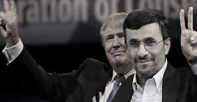 گروهی از ایرانیان، دونالد ترامپ برای آمریکا را مانند احمدی نژاد برای ایران می دانند.