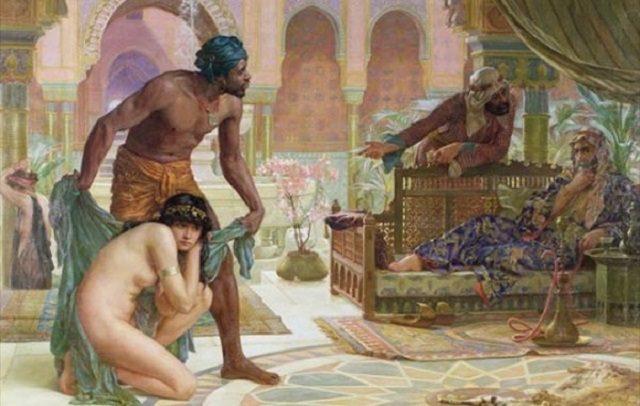و نیز زنان شوهردار بر شما حرام شده اند، مگر آنها که به تصرف شما در آمده باشند(منظور زنانی است که در جنگ اسیر مسلمانان شده باشند.). از کتاب خدا پیروی کنید.