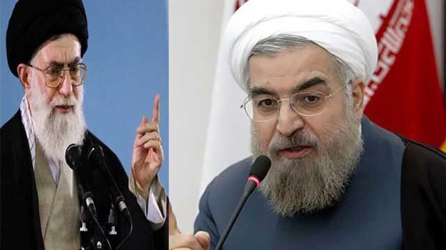 جنگ میان خامنه ای خودکامه ، دیکتاتور و تمامی خواه با روحانی رئیس جمهور مردمی و برگزیده مردم