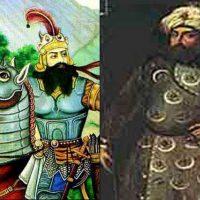 رستم فرخ زاد و شاه سلطان حسین که با اشتباهات و ضعف خود موجبات بهم پاشیدگی و شکست ایران شدند.