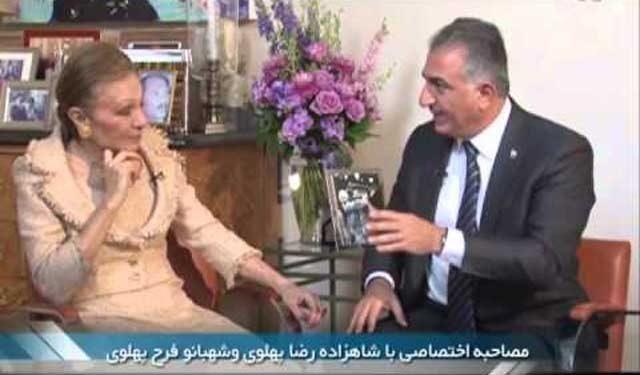 شاهزاده رضا پهلوی و مادر گرامی اشان که عمری را در غم اسارت مردم ایران و نابودی کشورمان به سر می برند.