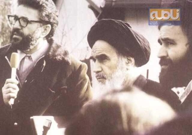 یزدی همه جا در کنار خمینی، مساور خمینی، بلندگوی خمینی، راهنمای خمینی، و شریک جنایات خمینی