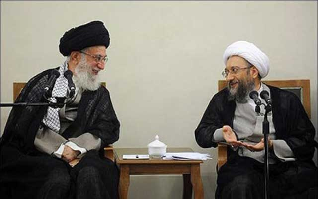 لاریجامی و خامنه ای دو ابر جنایت کار و دو ابر دزدند که باهمدیگر در مسابقه اند و ملت ایران تنها تماشاگر دزدی های این دوابرجنایتکار است.