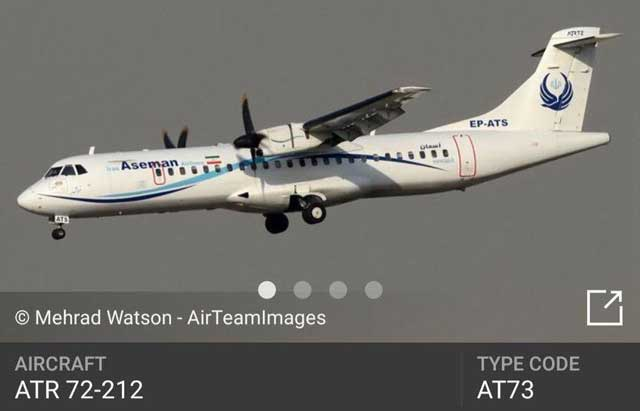 aseman-flight-AT73-ATR72-212-airplane-crash-iran