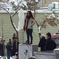 Narges Hosseini was detained within 10 minutes of removing her veil in apparent solidarity with 'Girl of Enghelab Street